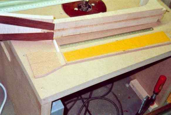 Milling of the neck on the blank width