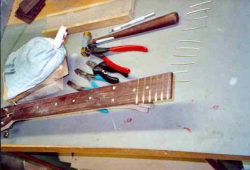 Inserting the frets
