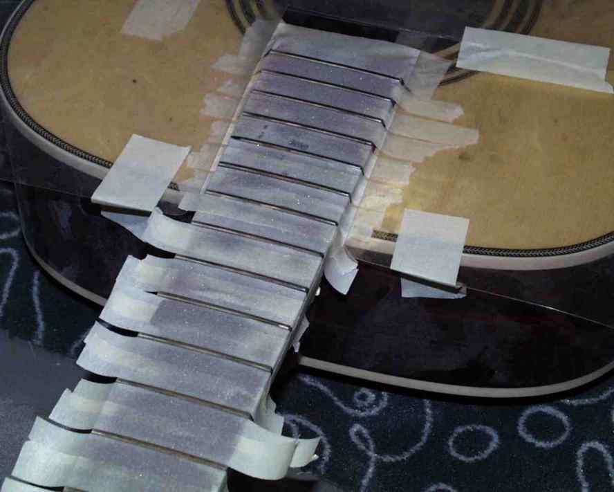 Peeled frets