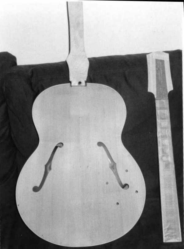 Neck and body before painting
