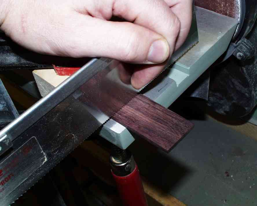 Sawing of the center piece