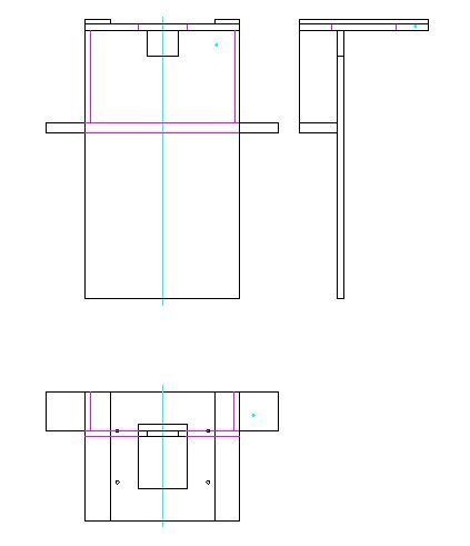 Sketch device in three views