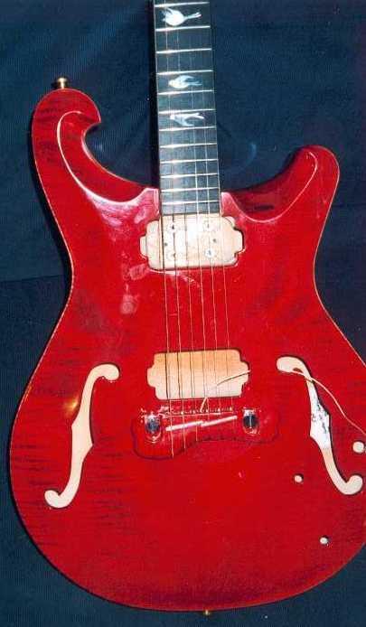 Bridge on prototype guitar