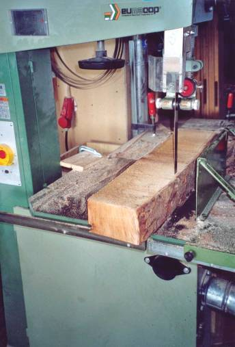 Sawing neck blanks