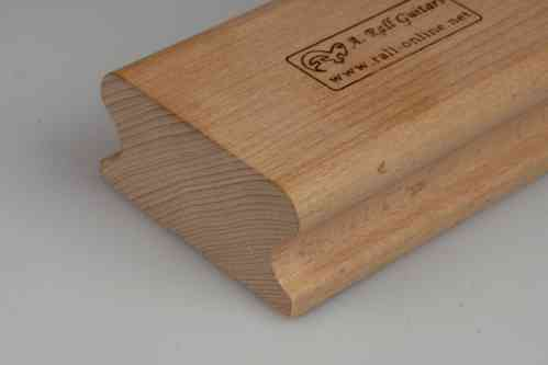 "R=0"" hard wood sanding block; 250mm"