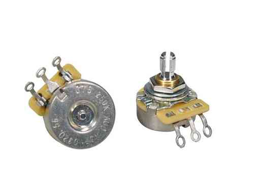 250K A CTS audio potentiometer log., short