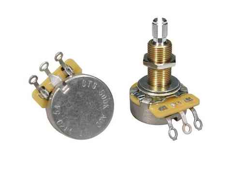 500K A CTS audio potentiometer log., long shaft