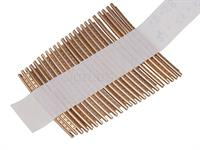 Fret wire nibbled/cut 24pc 2,3x1,4x0,5 - 43 - 58mm  Bell brass