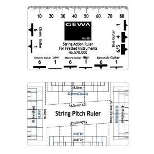 picture relating to String Action Gauge Printable titled Gewa String Move Ruler