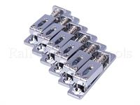 Single Bridge For Guitar, Chrome, Set Of 6