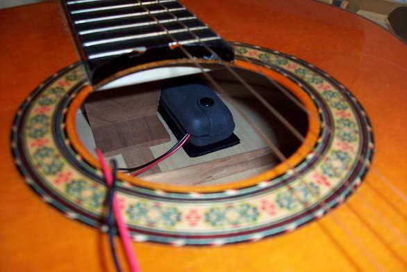 B-Band A1N-1470 Tonabnehmer-Einbau in eine Konzertgitarre - Rall ...